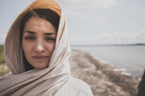 Beautiful Woman in Head Scarf