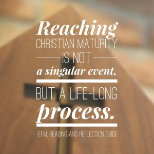 Reaching Christian Maturity Quote